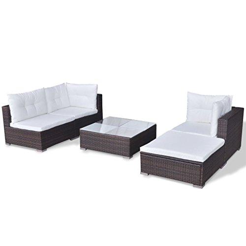 vidaXL Gartenmöbel 14-TLG. Poly Rattan Sofa Lounge Sitzgruppe Gartengarnitur - 7