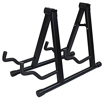 YMC Universal Folding Guitar Stand with Secure Lock - for Acoustic and Electric Guitar