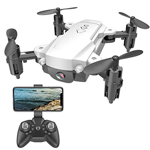 GRTVF 2.4G 4K HD Micro Pocket Drones Camera for Adults, WiFi FPV Foldable RC Quadcopter 1080P for Beginners Altitude Hold Follow Mode Headless Mode One Key Take Off/Landing, with 2 Batteries