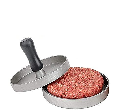 Pressa per Hamburger,in Alluminio e Rivestito con Antiaderente e Alimentare Sicuro Materiale, Ideale per Pressare Patties e Come Mini Padella