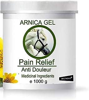 Arnica Gel 100 % naturligt för hästar och husdjur 1 000 g muskelledbula blåmärken stukning traumatiska skador