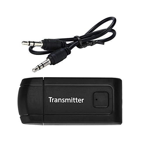 BEESCLOVER Bluetooth V4 transmetteur sans Fil A2DP stéréo de 3,5 mm Audio Musique Adaptateur Noir