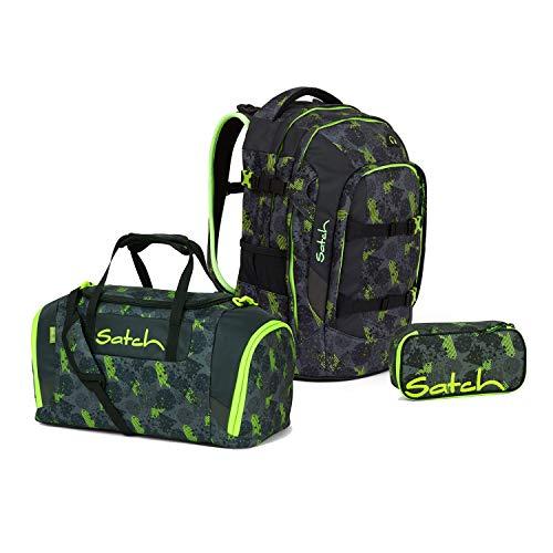 Satch Pack Off Road Schulrucksack Set 3tlg.
