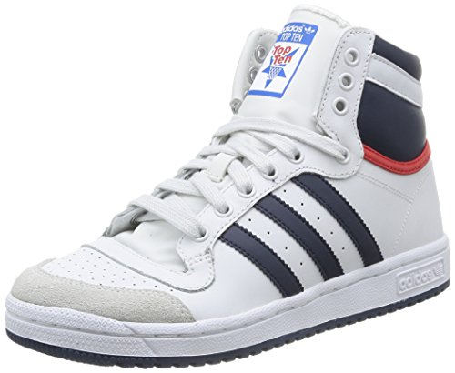 Adidas D74481, Basket-ball Garçon, Blanco / Rojo, 37.33 EU