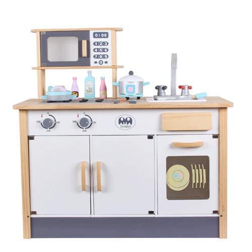 PETRLOY Kids Simulation Kitchen Set Spielzeug mit Dunstabzugshaube , Gasherd , Miniatur Food Cook Fun Game Spielzeug Kinder 79cm Höhe