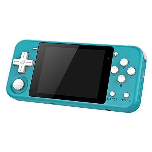 Q90 Handheld-Spielekonsole mit 16G-Speicher, 3-Zoll-IPS-Bildschirm-Spielgerät mit Dual Preload 3000-Spielen Opendingux System 16 Simulators 3D Neue Spiele für Kinder
