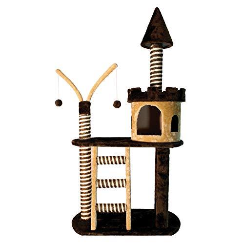 Arquivet 8435117841185 - Rascador castillo marron/beige 70 x 40 x 125 cm