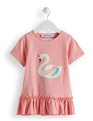 Amazon-Marke: RED WAGON Mädchen T-Shirt mit Schwan-Motiv, Pink (Pink), 104, Label:4 Years