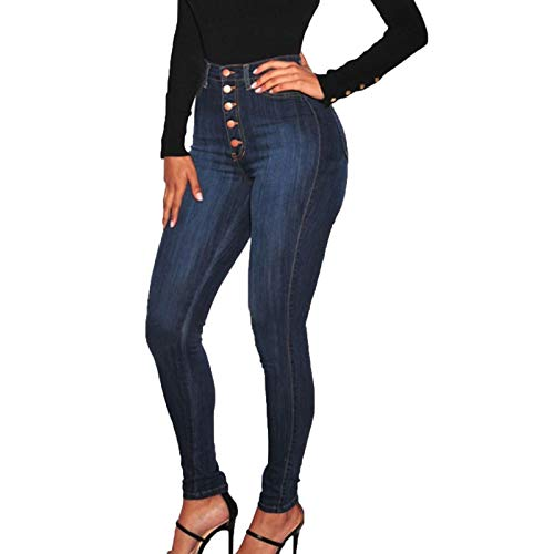 WUAI-Women Stretch Pull-On Skinny J…