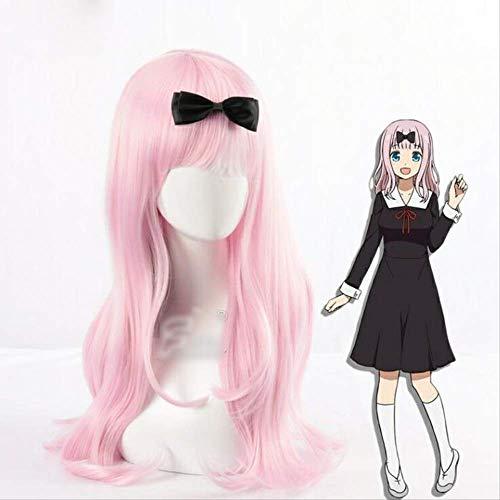 Chika Fujiwara Pink Wig Cosplay Kaguya-sama: Love is War Kaguya-sama wa Kokurasetai: Tensai-tachi no Renai Zunousen Cosplay Wig
