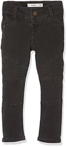 Name It Nittirsanne Skinny Pant NMT Noos Jeans, Gris (Asphalt), 98 Bébé Fille