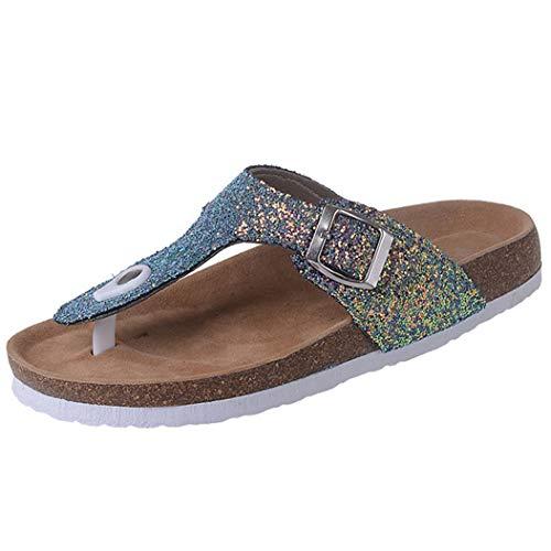 Infradito con Infradito da Donna Infradito con Sughero Sandali da infilare Slip on Clip Pantofole con Plateau Scarpe da Spiaggia estive