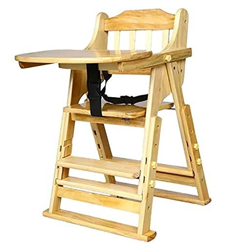 DUNAKE Trona de Bebe evolutiva 8 en 1,Mesa de Comedor/Mesa de Juego/Trona/Escalera para el hogar/Mesa de Estudio/Modo de barandilla/se Puede Usar como Carro/Modo de Taburete pequeño