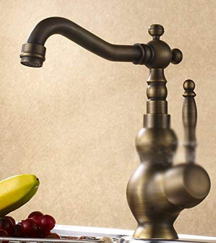 HhGold Sink Taps kupferner europischer Retro Art drehende Küche