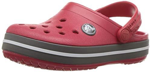 Crocs Crocband Clog K, Zoccoli Unisex-Bambini, Rosso (Pepper/Graphite), 32/33 EU