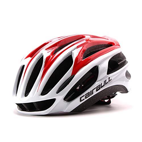 HANFEI Casco Ultraligero para Bicicleta para Adultos, Casco para Bicicleta De Montaña, Unisex, Negro, Blanco, Rojo, Amarillo, Azul, Gris (4,M)