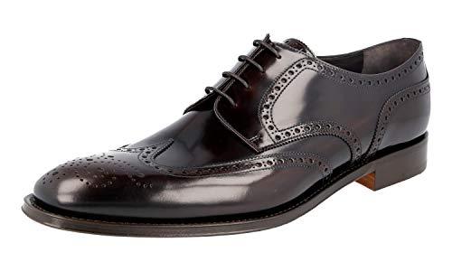 Prada Herren Braun Budspester Leder Business Schuhe 2EB153 055 F0038 45 EU/UK 11