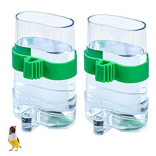2 Stück Automatischer Wasserspender für Vögel Vogel Wasserspender zum Aufhängen im Vogelkäfig Haustier Vogel Kunststoff Tränkerspender Wasserspender für Papageien, Wellensittiche, Liebesvögel