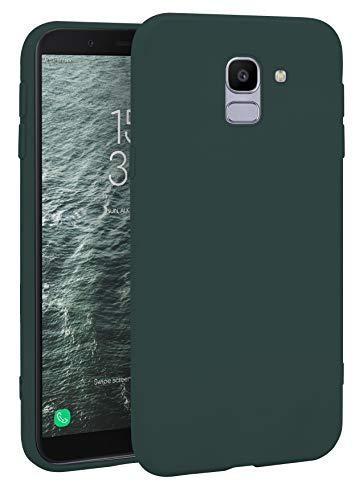 MyGadget Friendly Pocket Custodia TPU per Samsung Galaxy J6 (2018) - Case Morbida Bordi Rinforzati – Cover Silicone Antiurto e AntiGraffio - Verde Scuro