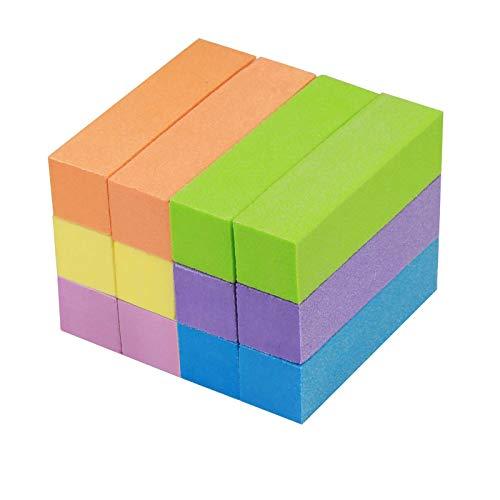 12PCS bloques de lijado ZoomSky arte uñas de nail art pulido de limas de uñas de taco pulidor uñas de bloques de buffer seis colores