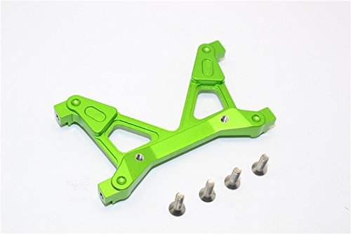 Axial SCX10 II Upgrade Pièces (AX90046, AX90047, AXI90075) Aluminium Rear Chassis Stabilized Mount - 1Pc Set Green