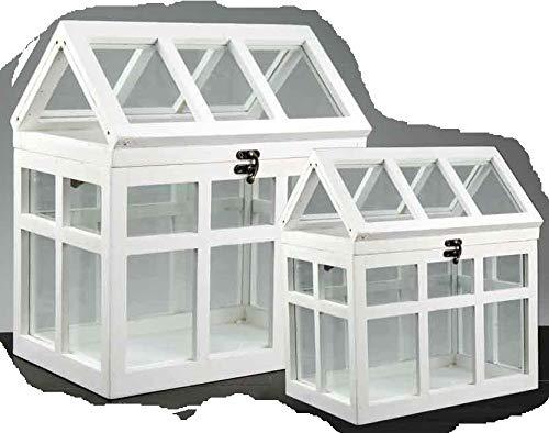 2pz serra serre in legno e vetro per piante shabby chic vintage decorazioni casa