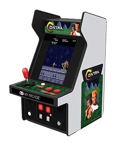 My Arcade Contra Micro Player, Fully Playable, Allows CO/VS Link for CO-OP Action, 6.75 Inch Collectible, Full Color Display, Battery or Micro USB Powered (DGUNL-3280)