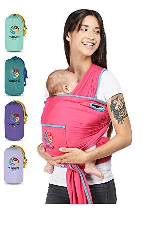 YUNIQME® Harmonie Babytragetuch – sehr weiche 100% Baumwolle – elastisches Tragetuch – Baby Tragetuch für Neugeborene mit bestem Tragegefühl – OEKO TEX – verschiedene Trendfarben