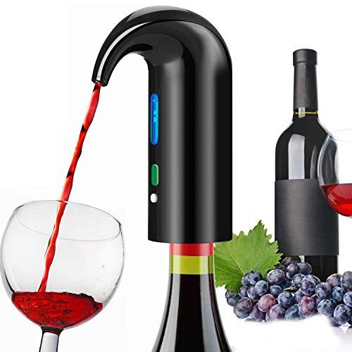 Aireador De Vino Eléctrico, Tapón Automático Multiinteligente, Dispensador De Vino De Filtro Vertedor De Aireación Y Boquilla Decantadora, Recargable por USB