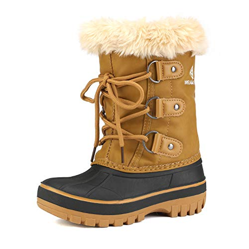 DREAM PAIRS Big Kid Forester Tan Ankle Winter Snow Boots Size 5 M US Big Kid