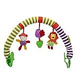 Cochecito de bebé Play Arch Colgante Arco Iris con Clip Peluche Alloto Muñeca Sensor Sensor Travel PRAM Actividad Bar Colgando Juguete Early Development Toy