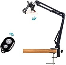 Overhead Video Stand Phone Mount with Bluetooth Remote Shutter for Baking Crafting Demo Drawing Sketching Recording,Live Streaming,Online Teaching 33'' - Acetaken