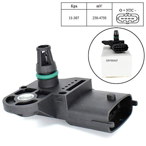 Sensor de mapa de presión de aire del colector Boost Turbo 0281002437 para S60 S80 V60 V70 Accord Kombi CR-V accesorios de piezas de coche
