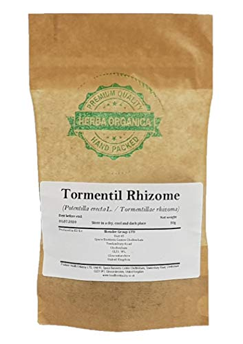 Blutwurz Rhizome / Potentilla Erecta L / Tormentil Rhizome # Herba Organica # Durmentill, Rotwurz, Ruhrwurz (50g)