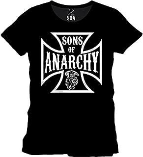 Hijos de La Camiseta el Logotipo Banda de motoristas de La Anarquía EN el Programa de Televisión con Licencia Negro