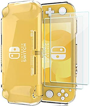 ProCase Nintendo Switch Lite Rubber Case Slim Soft Shockproof TPU Cover Anti-Scratch Protective Case for Nintendo Switch Lite 2019 with 2 Pack Tempered Glass Screen Protectors –Clear