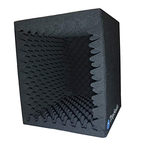 TroyStudio Portable Sound Recording Vocal Booth Box -  Reflection Filter & Microphone Isolation Shied  -  Large, Foldable, Stand Mountable, Super Dense Sound Absorbing Foam  (Small Size)