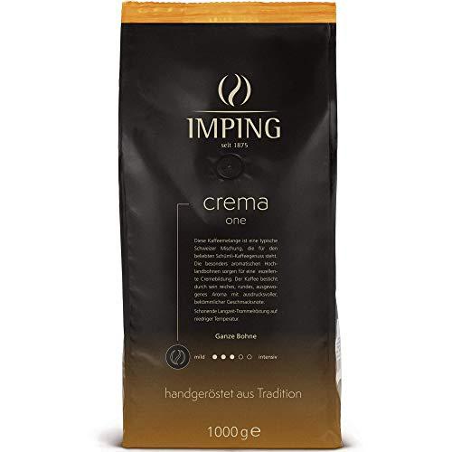 Crema One Schümli Kaffee Kaffeebohnen 1kg - Stärke 3/5 - Schweizer Mischung Ganze Bohnen 70% Arabica 30% Robusta - Schuemli Bohnenkaffee handgeröstet aus deutscher Traditionsrösterei