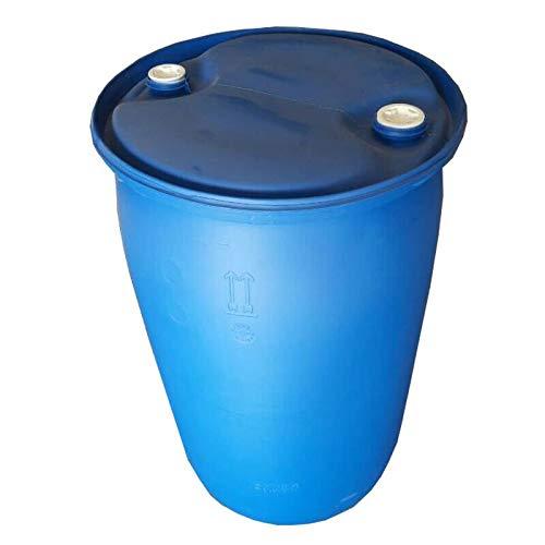 Spundfass 220 Liter blau Mostfass Wasser Griffhenkel Regenfass Tonne Kunststoff Plastik Fass