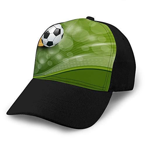 LJKHas232 790 Unisex Sombreros de Moda Gorra de béisbol, Transpirable, Tarjeta de fútbol Ajustable con Pelota y Premio Unisex Ballcap