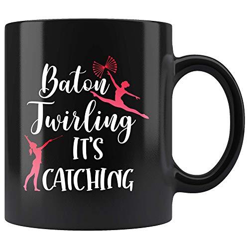 N\A Baton Twirling It 's Taza de Captura para Twirl Girl Baton Twirling Taza de café Regalo Baton Twirler Taza de té 11oz