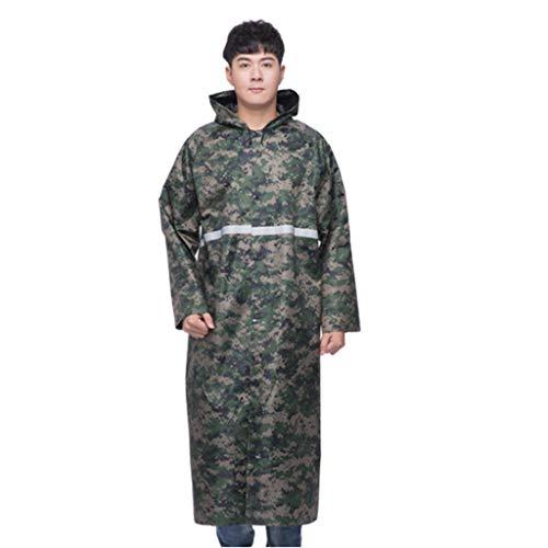 Stortbui Regenjas, Whole Body Outdoor Long Siamese Heren Cap Summer Work Raincoat (Color : C, Size : XXL)