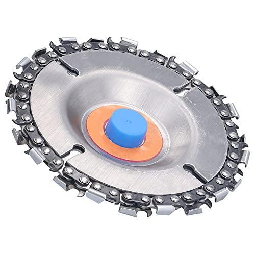 Hoja De Motosierra Circular, Acero Inoxidable 14000 Rpm Disco De Cadena De 4 Pulgadas De Diámetro Exterior Para Amoladoras Angulares De 4 O 4-1/2 Pulgadas(Platón de cadena naranja)