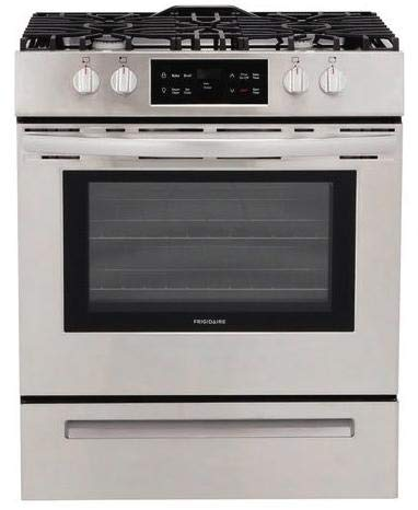 professional Frigidaire FFGH3051VS 30 inch retractable stainless steel gas range