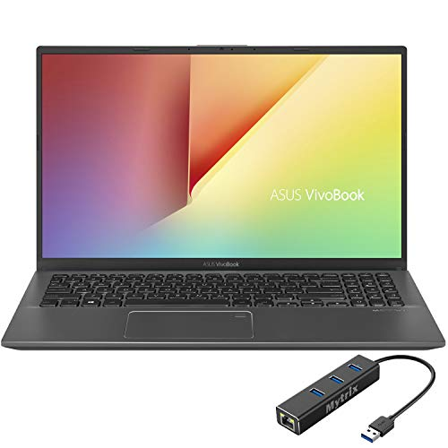 ASUS_VivoBook 15.6 pulgadas FHD Laptop, 1080p NanoEdge, Inetl Core i3-1005G1, 8GB RAM, 256GB SSD+500GB, USB-C, lector FP, cámara web, teclado, Mytrix Ethernet Hub, Win 10