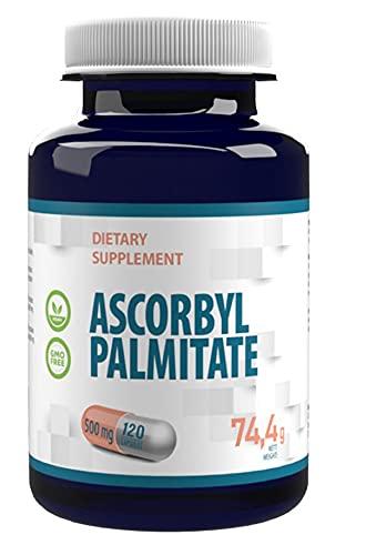 Ascorbyl Palmitate 500mg 120 Vegane Kapseln, hohe Stärke, keine Füllstoffe oder Bulker, keine GMO