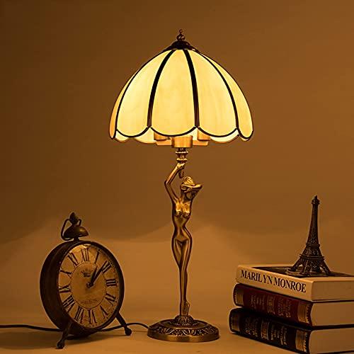 DO-MF Lámpara de Mesa de Cobre Puro Retro, lámpara de Noche para Dormitorio, luz de Escritorio de Arte Moderno para Pasillo, Sala de Estar, Comedor, Sala de Estudio, vestíbulo de Entrada, Hotel