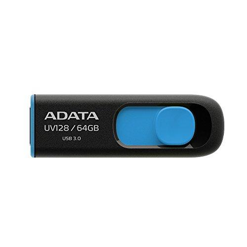 ADATA UV128 64GB USB3.1 Flashlaufwerk, schwarz/blau