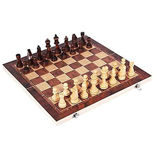 Juego de mesa con temporizador, juego de ajedrez de madera, juego de mesa de ajedrez plegable, juego de viaje, juego de juguetes educativos, tablero de ajedrez de calidad, gran cumpleaños para niños