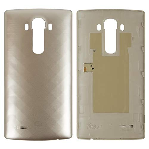 Carcasa de repuesto para tapa trasera de batería compatible con LG G4 F500, G4 H810, G4 H811, G4 H815, G4 H818N, G4 H818P, G4 LS991, G4 VS986, (dorado)